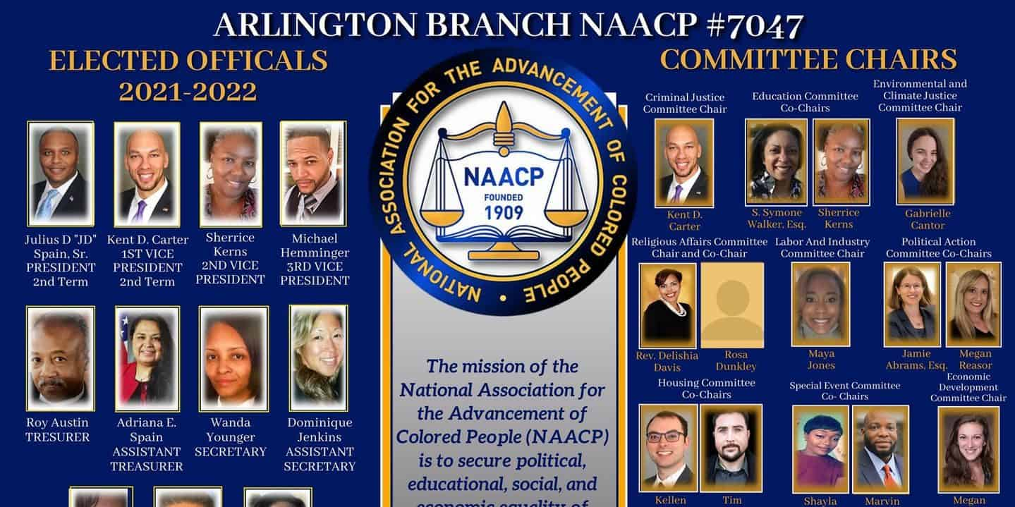 Arlington Branch NAACP 7047 leadership pictures