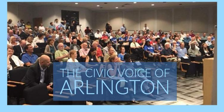 Photo of Arlington Civic Federation audience in a conference room