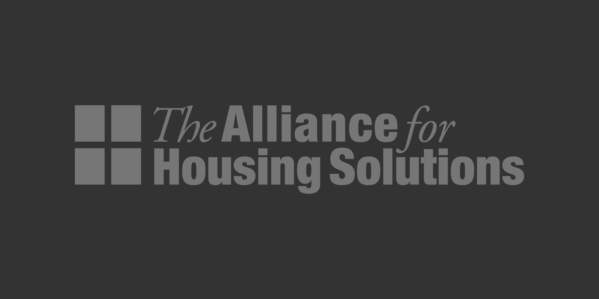 Faded Alliance for Housing Solutions logo